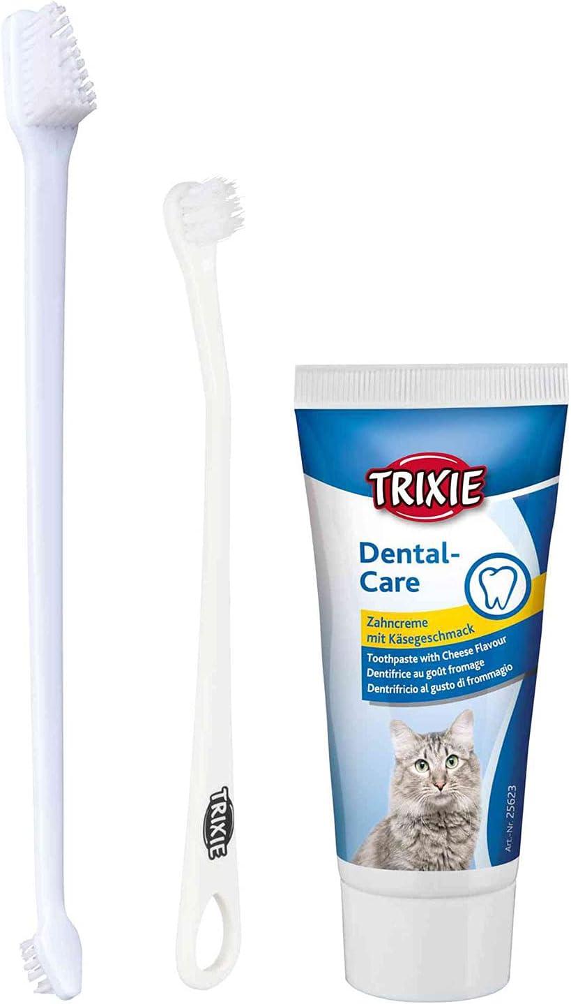 TRIXIE Set Higiene Dental para Gatos, Perro