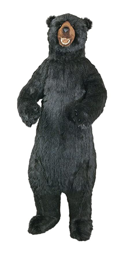 Amazon Com 58 Large Life Size Standing Plush Black Bear Stuffed