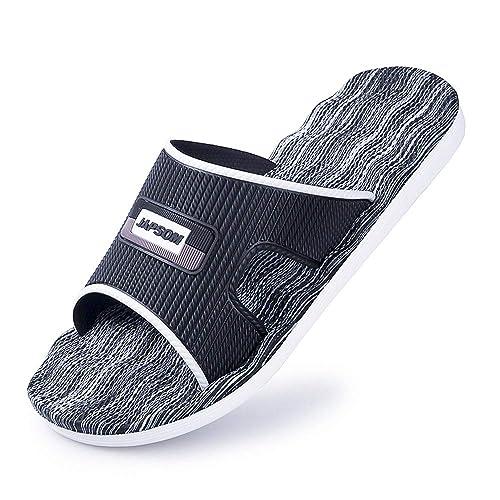 Venta de liquidación 2019 compra original completo en especificaciones Zapatillas de baño Zapatillas de Ducha para Hombres Mujer,Unisex Adulto  Chanclas de Playa El Verano Antideslizantes Zapatillas de casa de Interior  ...