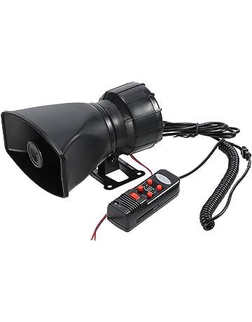 KKmoon 12V 60W Bocina 5 Sonido Alarma de Coche 300dB Sirena de Incendio Policía PA Altavoz