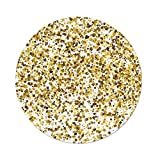 iPrint Polyester Round Tablecloth,Gold White,Party Celebration Themed Confetti Like Squares Abstract Ombre Image Decorative,Yellow White,Dining Room Kitchen Picnic Table Cloth Cover Outdoor Indo
