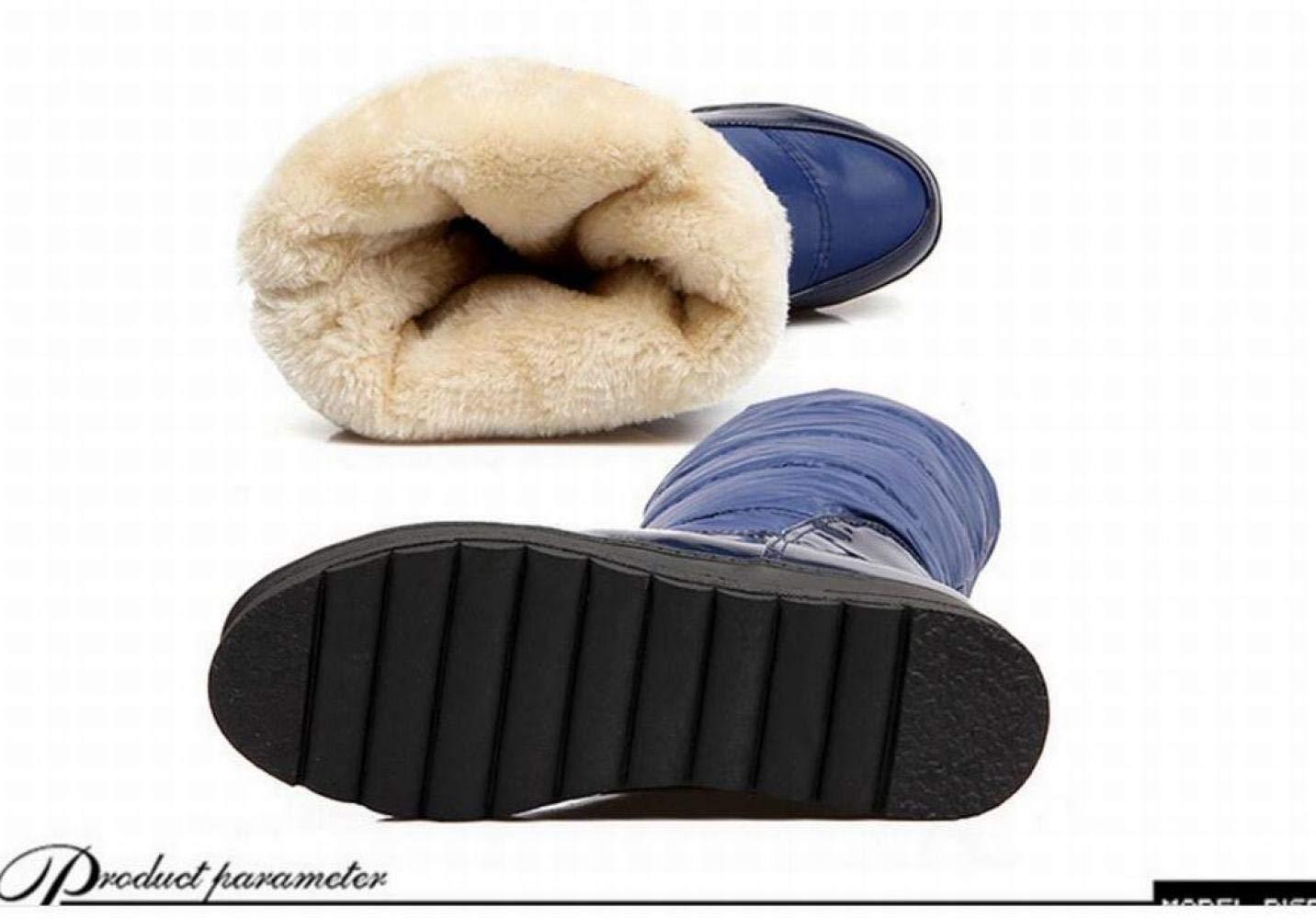 IG Damenstiefel - Winter Warme Warme Warme Anti-Ski-Stiefel Stiefel Erhöhen Ritter Stiefel 34-40 Blau 37 bef5b2