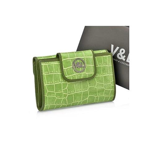 Victorio & Lucchino Billetero de Mujer Outlet Verde Claro 131: Amazon.es: Zapatos y complementos