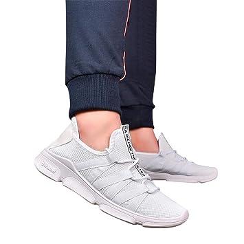 Sonenna - Zapatillas de deporte con correas de hombre de moda Zapatillas Casual Zapatillas Sólidas: Amazon.es: Hogar