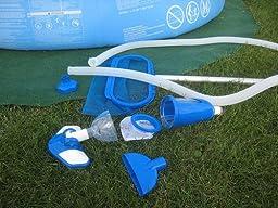 Intex poolreinigung reinigungsset deluxe mit alu for Garten pool leeren