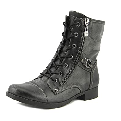 G by GUESS Quilted Combat Boots  Black PMRTHTC
