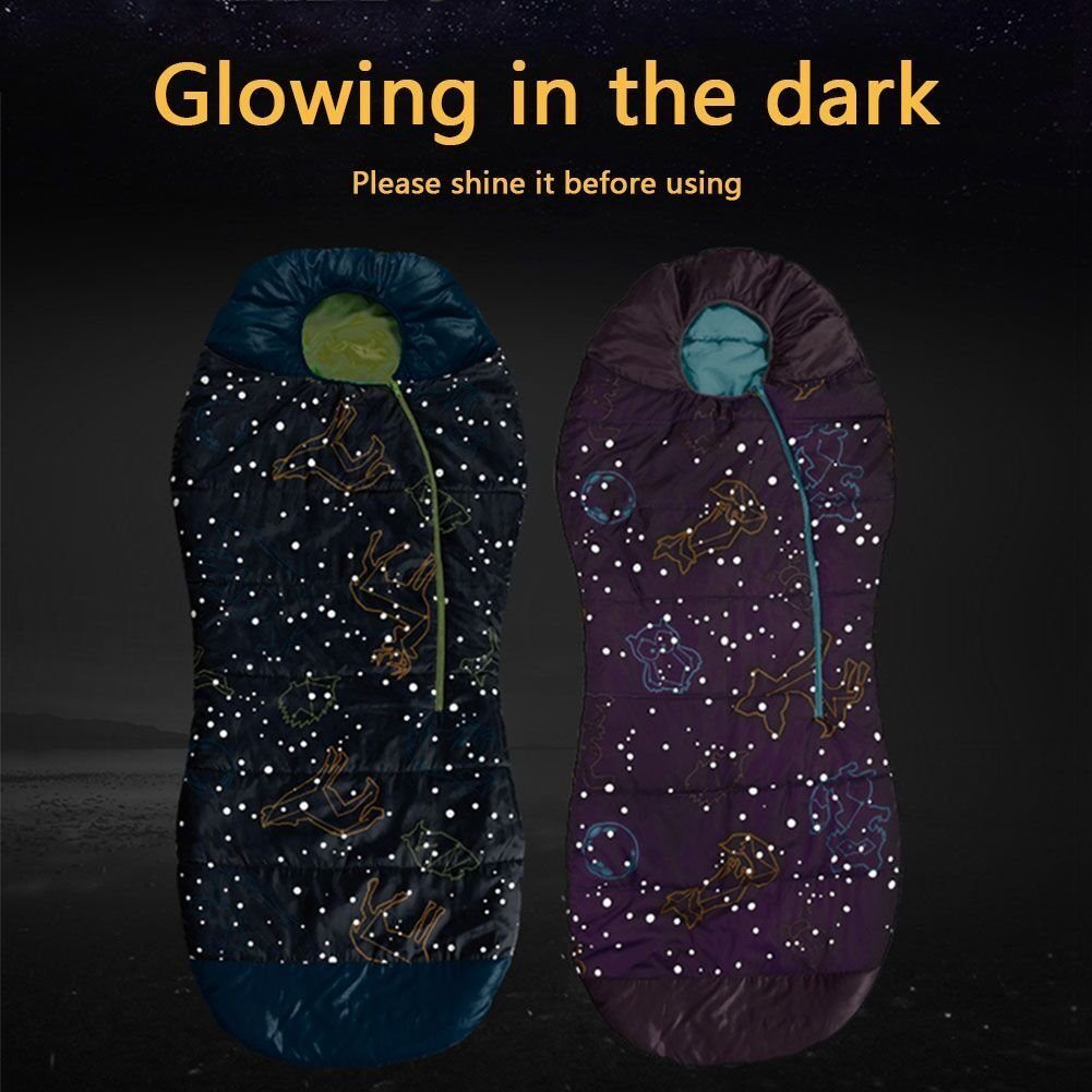 AceCamp Kid s Glow in the Dark - Saco de dormir para niños, tipo ...