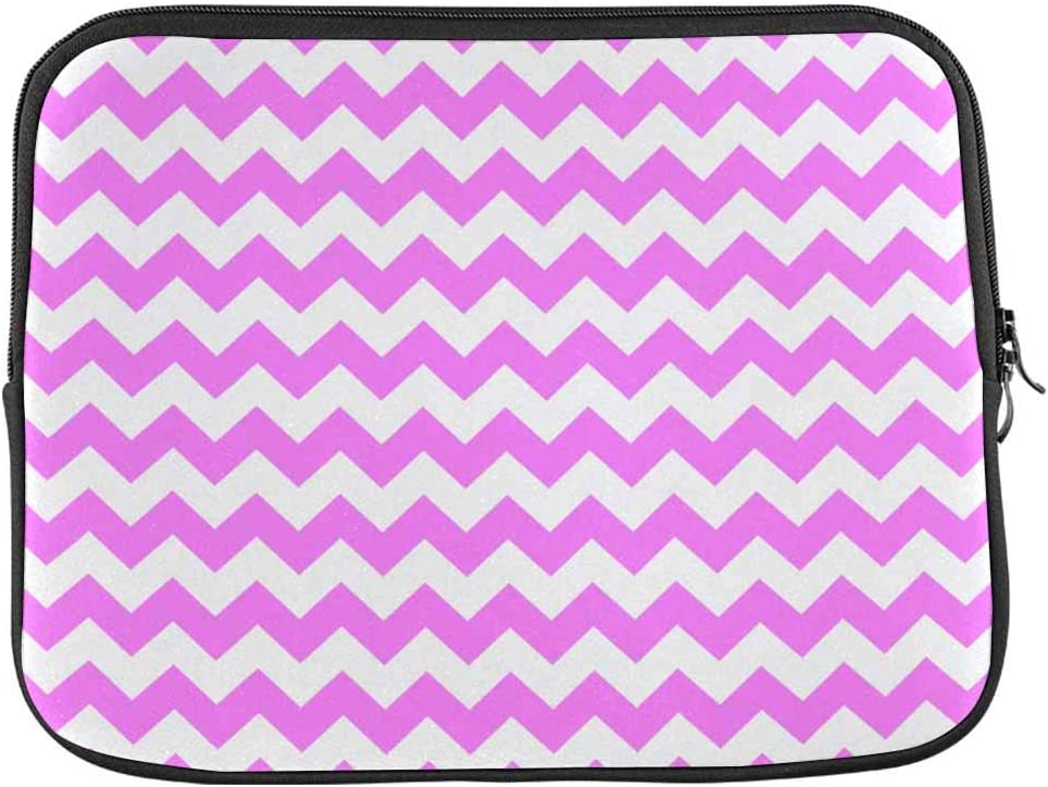 Pink White Chevron Laptop Sleeve Case 13 13.3 Inch Briefcase Cover Protective Notebook Laptop Bag