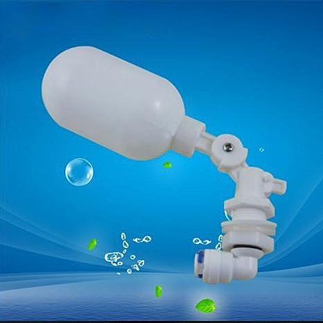 Válvula de flotador mini válvulas de llenado lateral de plástico ajustable para acuario, depósito de