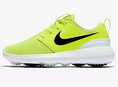 2ba72a89da9a Nike Roshe G Jr Big Kids 909250-700 Size 6 Volt Black-White