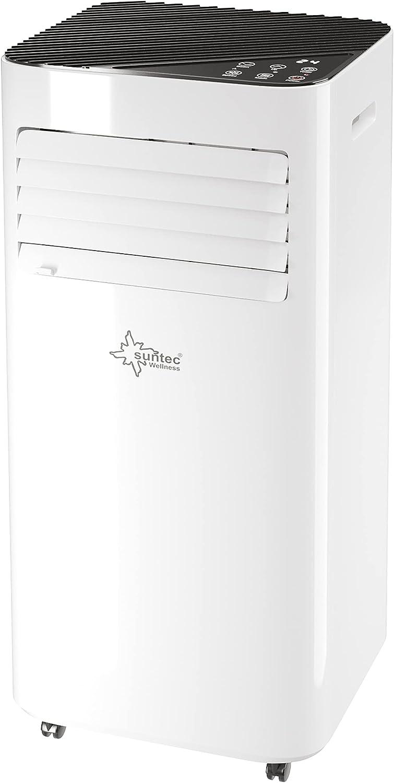 Suntec Climatizador Móvil Comfort 9.0 Eco R290 - 3 en 1 Aire Acondicionado Portatil - Refrigeración, Ventilación y Deshumidificación, 9000 BTU Pantalla, Silencioso, Mando a Distancia