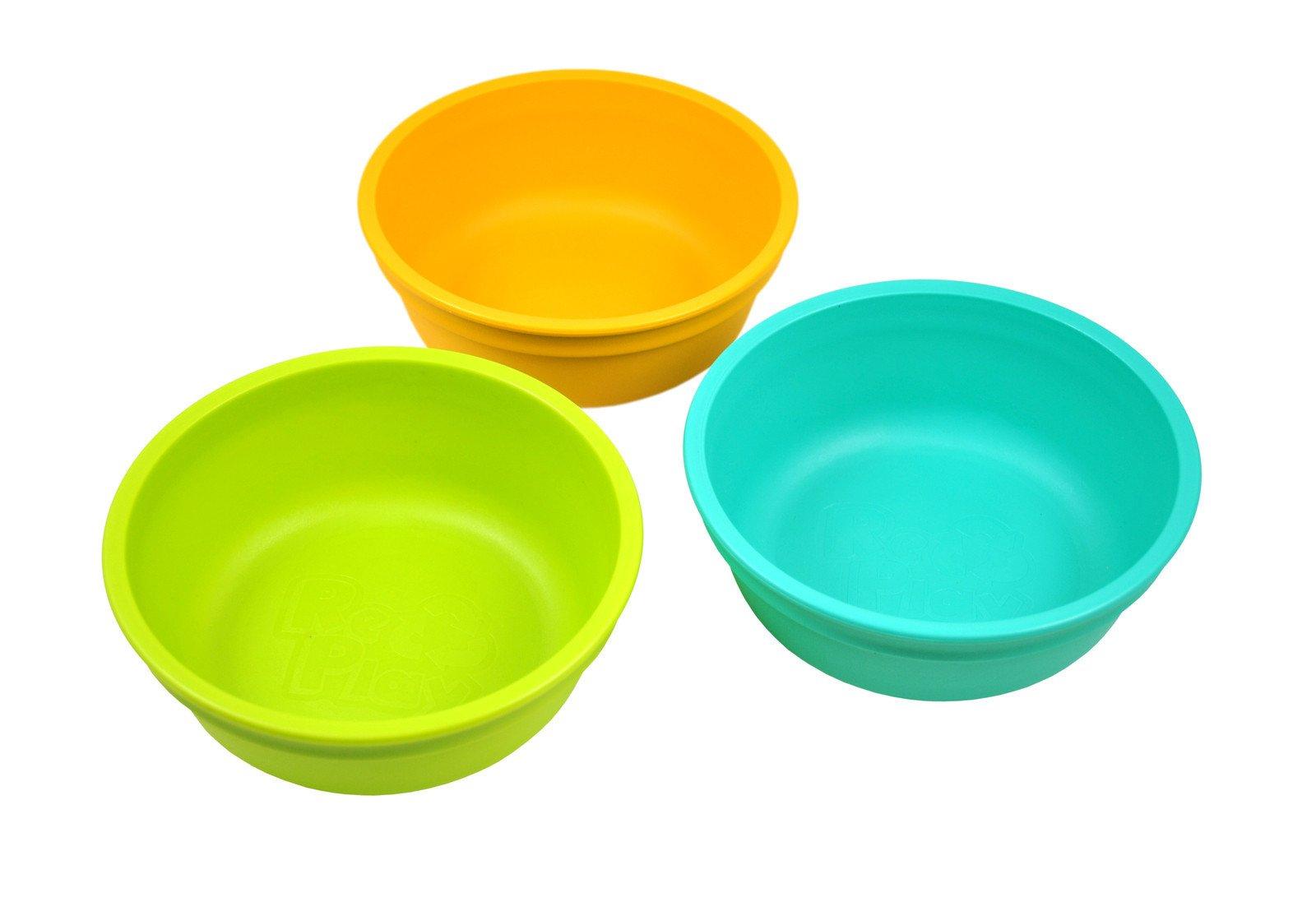 Re-Play Bowls, Aqua, Green, Sunny Yellow, 3-Count