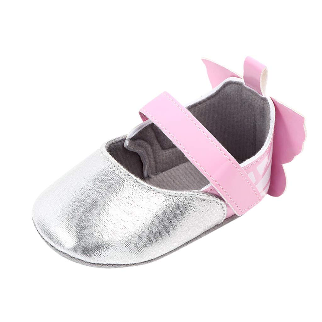 Voberry- Newborn Girls Boys Butterfly Cute Anti-Slip First Walkers Soft Sole Shoes