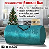 BenefitUSA Heavy Duty Large Artificial Christmas Tree carry Storage Bag Holiday Clean Up to 8' (Green)
