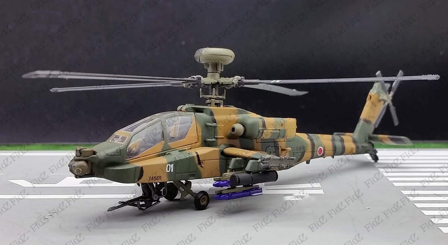FloZ Japan JSDF AH-64D Apache Longbow Attack Helicopter 1/100 Aircraft diecast Model