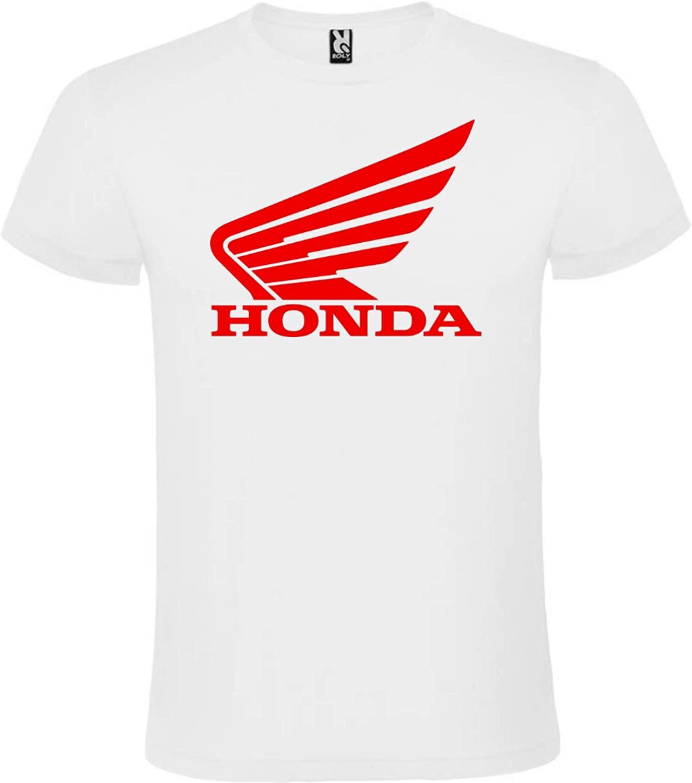Camiseta Blanca Honda Logo Rojo Hombre Tallas S M L XL XXL XXXL 100% ALGODÓN Mangas Cortas (XL): Amazon.es: Ropa y accesorios