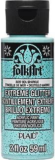 product image for FolkArt Extreme Glitter Paint, 2 oz, Sea Sparkle 2 Fl Oz
