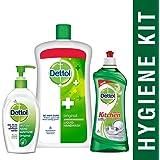Dettol Handwash Original - 900 ml with Dettol Sanitizer Original - 200 ml and Dettol Kitchen Gel Lime - 750 ml