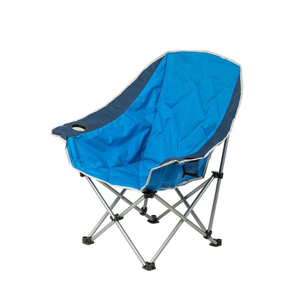 Outdoor folding chair YNN Klappstuhl im Freien beweglicher Fischen-Stuhl-leichte schnelle Verstärkung verstärkter tragender Strand-Stuhl-Freizeit-Stuhl (Farbe : Blau)