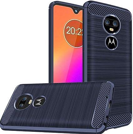 Suordii para el Estuche Moto G7, Cubierta de protección Antideslizante de empuñadura Suave de Fibra de Carbono TPU [absorción de Choque] para Motorola G7 / G7 Plus (La Marina): Amazon.es: Electrónica