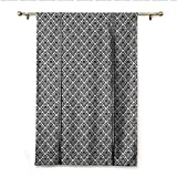Best Eclipse Home Fashion Thermal Insulated Blackout Tie-up Window Shades - homehot Damask Tie Up Printed Blackout Curtain Symmetrical Review