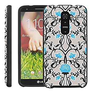[ManiaGear] Design Graphic Image Shell Cover Hard Case (Retro Blue) for LG G2 / D800 / D801 / LS980