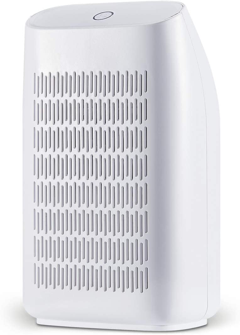 hhsuc Dehumidifier Electric Home Mini Dehumidifiers for Bedroom Bathroom Kitchen, Caravan 700ml 24fl.oz Capacity up to 215 sq ft White