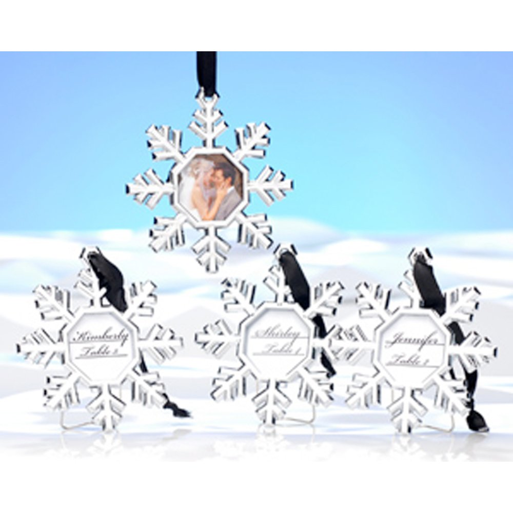 Amazon.com: Kate Aspen Snowflake Place Card Holder/Ornament (Set of ...