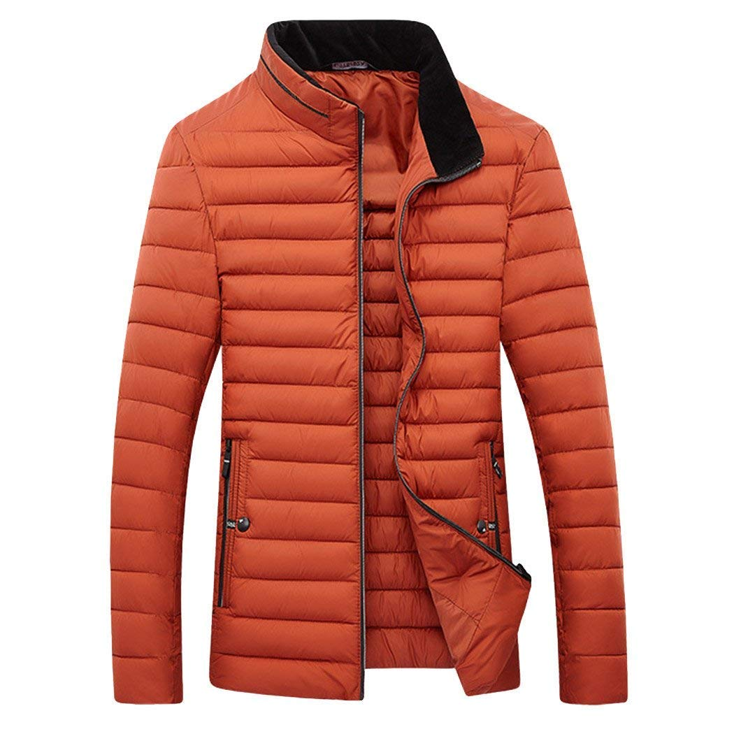 Ms Lily Mens Lightweight Stand Collar Packable Quilted Puffer Down Jacket Coat