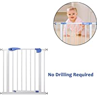 Safe-O-Kid ⭐⭐⭐⭐⭐ Quality, Child Safety Gate Barrier for Stairs and Hallways, Two Way Auto-Close - Size 76cm (2.5 ft) x 70cm (2.3 ft)