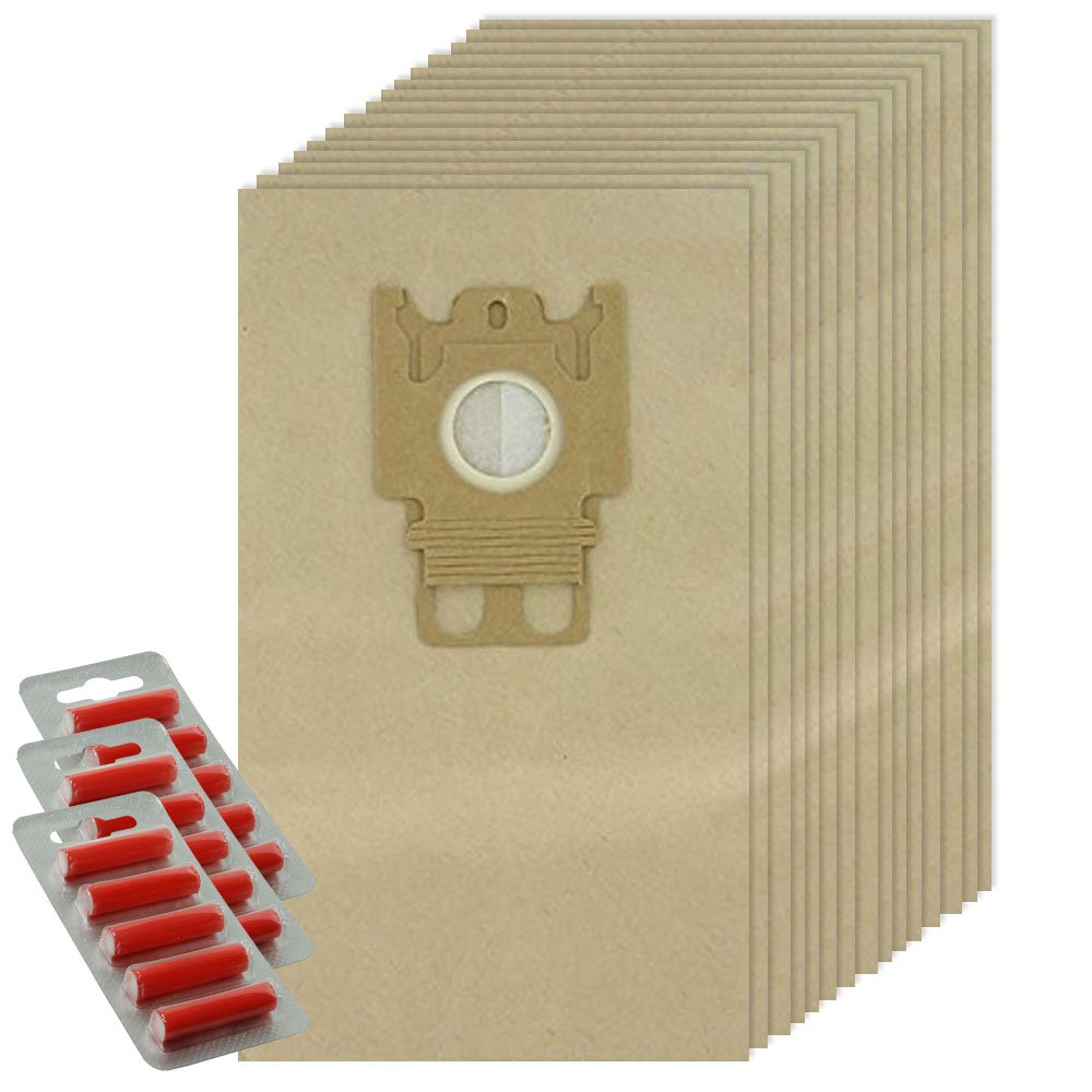 spares2go GNタイプ用紙バッグfor Miele s3800 s5281掃除機( 15バッグ+ Fresheners )   B01E934BQW