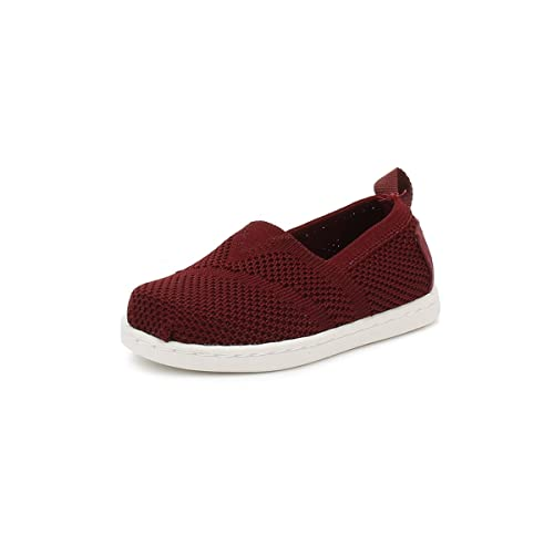 TOMS - Mocasines de Tela para niño Rojo Granate, Color Rojo, Talla 23: Amazon.es: Zapatos y complementos