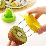 Liangxiang Vegetable Fruit Peeled Kiwi Cutter Twister Slicer Kitchen Peeler Divider Kitchen Fruit Tools Fruit Corers Separator Tools (Yellow)