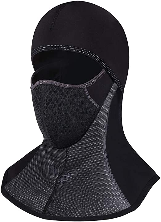 Full Face Mask Ski Motorcycling Thermal Winter Sports Zipper Neck Cap Cover Hat