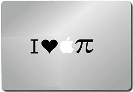 Amazon I Love Apple Pi Pi Symbol Macbook Black Decal
