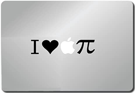Amazon I Love Apple Pi Pi Symbol Macbook Black Decal