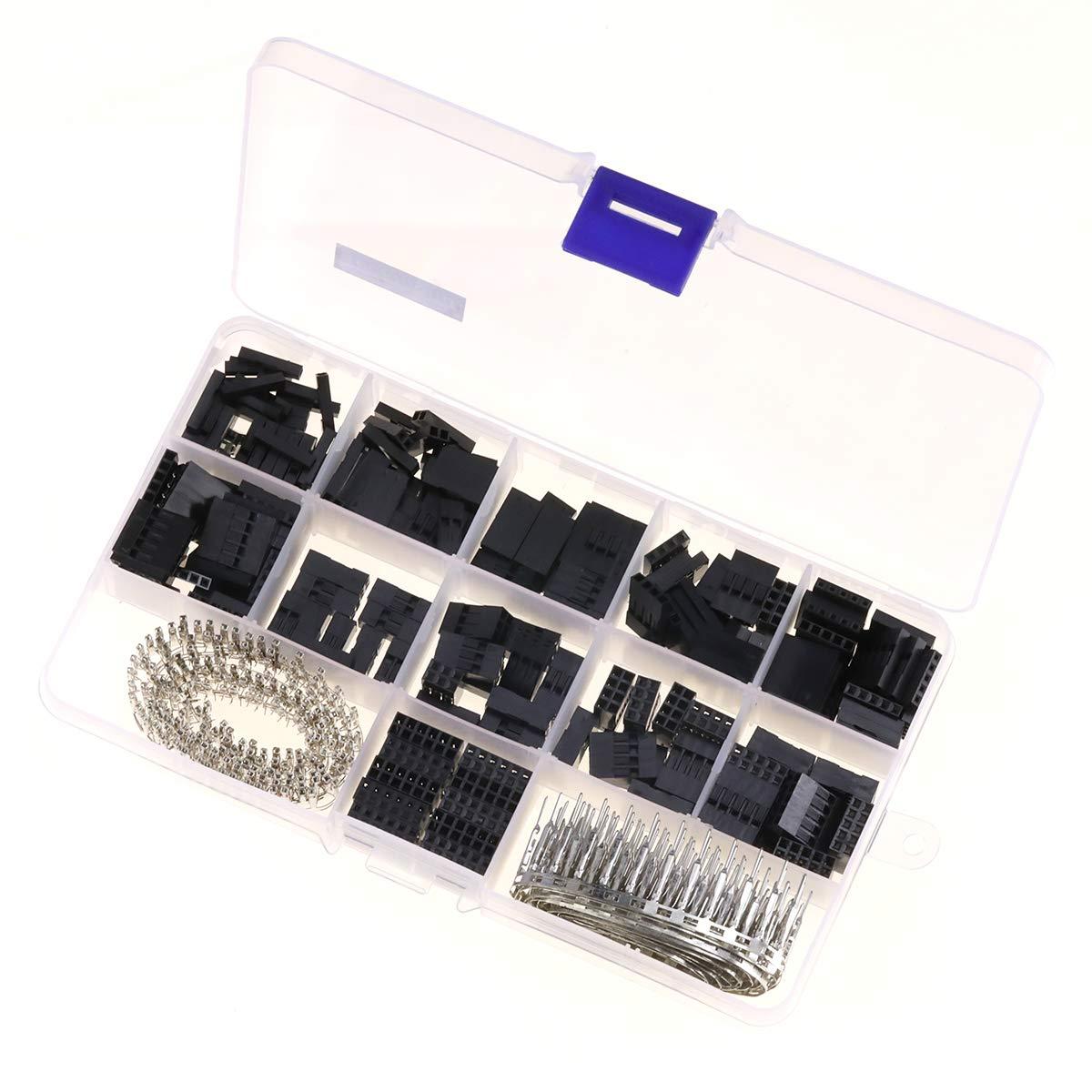 Teckmond Crimpzange Kabelschuhe Set Kabel Steckverbinder Mit 8 Farben Elektrische Verzinnte Aderend-Isolierhü lsen fü r Anschlussdosen Kabel, 1000 Pcs AWG 24-10