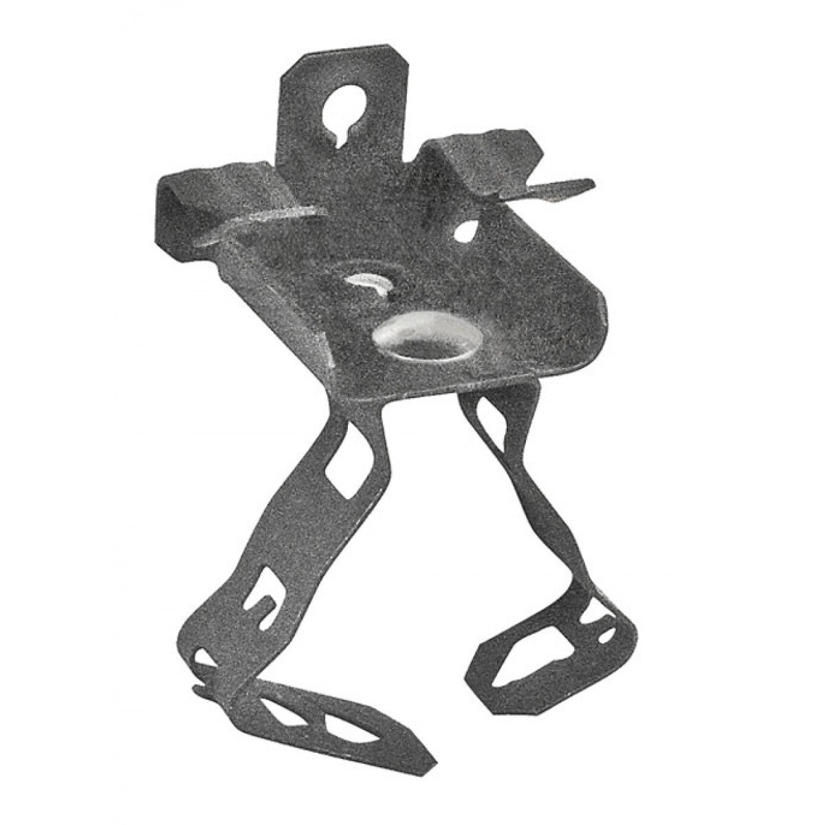 5 Pcs, 2 In. Conduit Hanger w/5/16 to 1/2 Thick Flange Mount, Spring Steel Used to Suspend 2 Conduits From Bottom of Beams