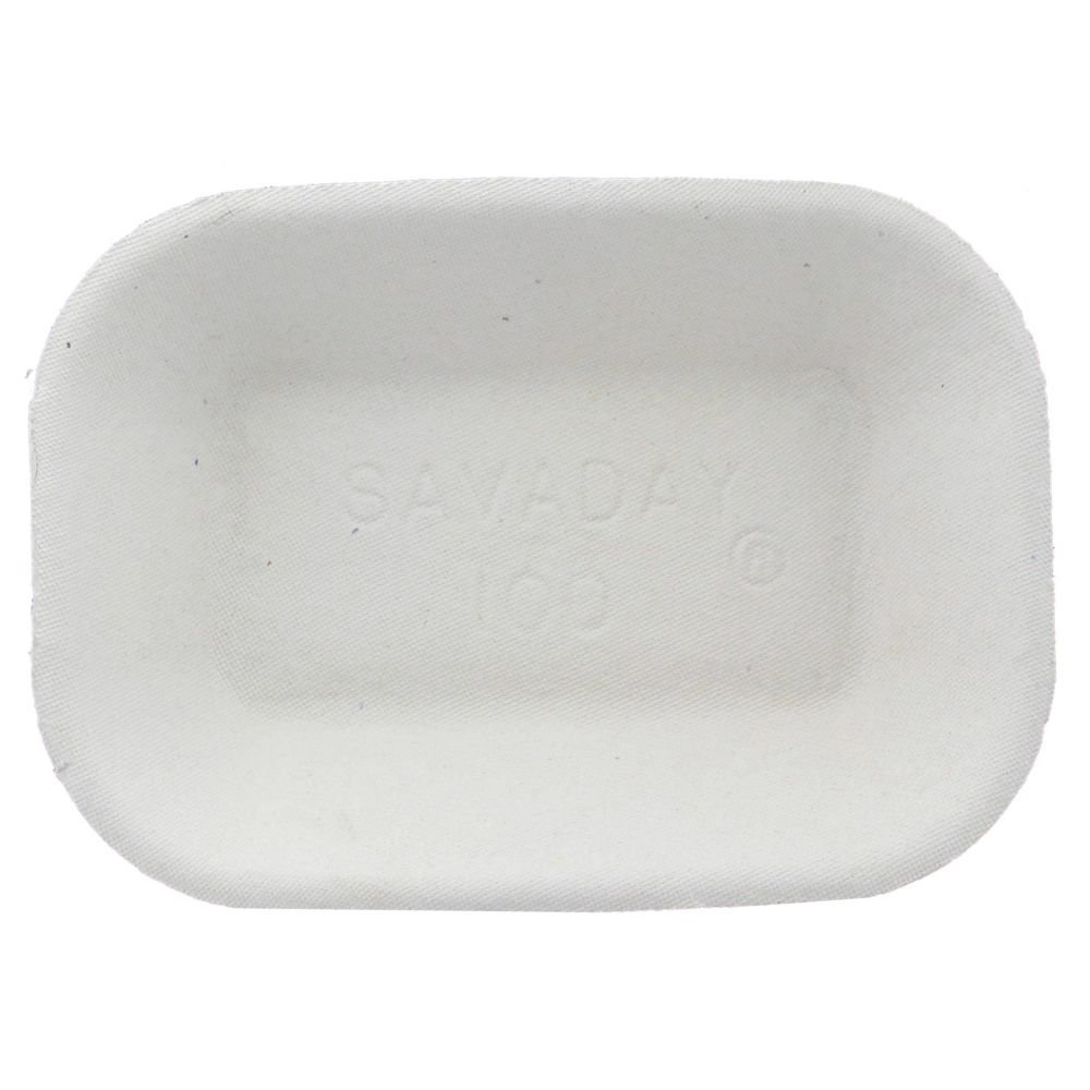 Chinet 10403 Savaday White Food Tray - 1000 / CS by BUNZL