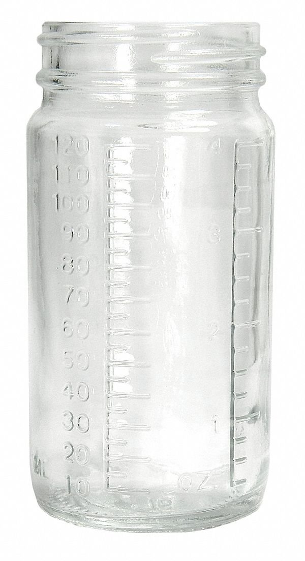 Wide Mouth Round Bottle, Sampling, Glass, 240mL, Clear, 96 PK