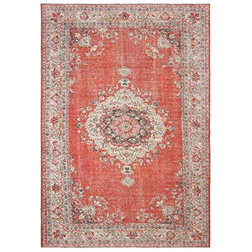 - Sphinx Sofia Area Rug 85810 Red Dots Petals 4' 3