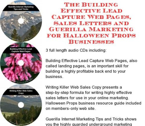 The Guerilla Marketing, Building Effective Lead Capture Web Pages, Sales Letters for Halloween Props Businesses]()
