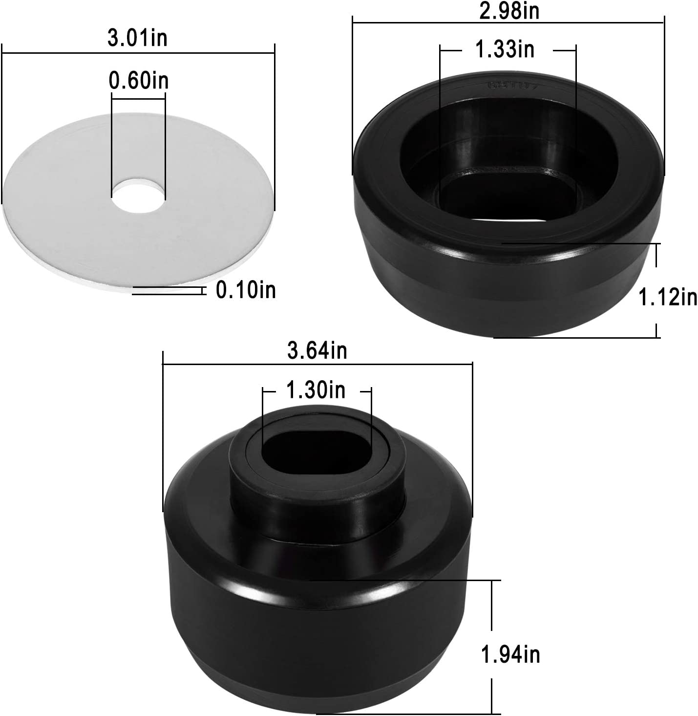 7-141 Body and Cab Mount Bushing Kit for 1999-2014 Chevy Silverado /& Sierra 2WD//4WD 1500//2500 Polyurethane Black
