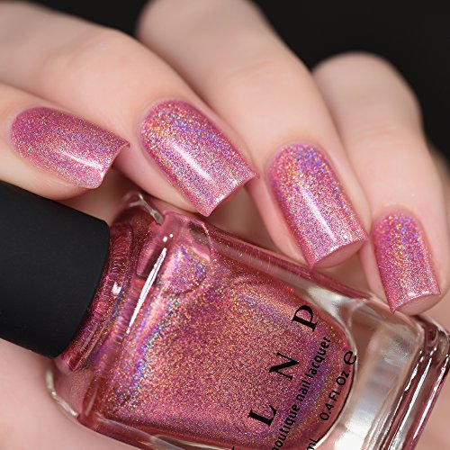 ILNP Kiss And Tell - Flamingo Pink Ultra Holographic Nail Polish
