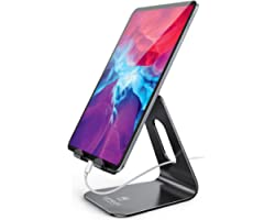 Tablet Stand Multi-Angle, Lamicall Tablet Holder: Desktop Adjustable Dock Cradle Compatible with Tablets Such As iPad Air Min