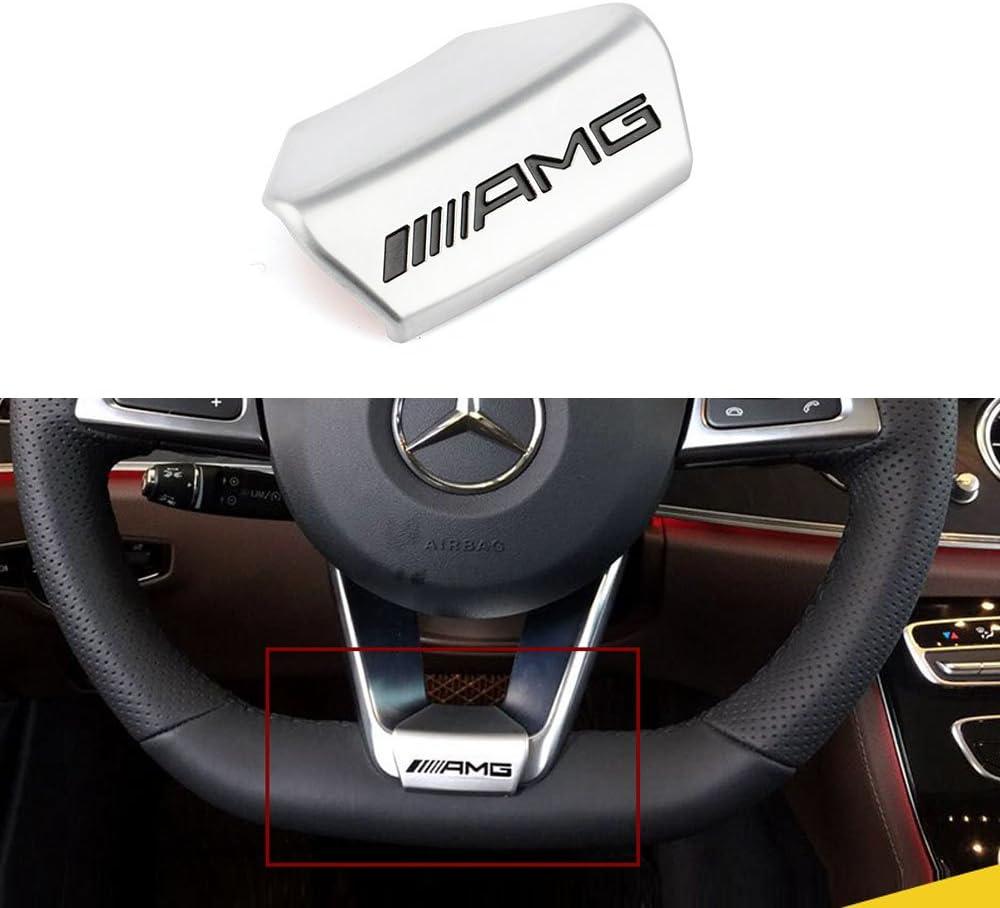 Steering Wheel Emblem Decal Sticker Badge Decoration for Mercedes Benz AMG Logo