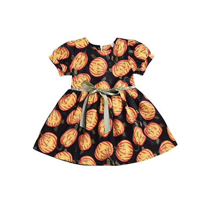 Amazon.com: Vestido de calabaza para bebés y niñas de ...