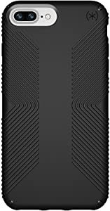 Speck Products Presidio Grip Case for iPhone 8 Plus (Also fits 7 Plus and 6S Plus/6 Plus), Black/Black