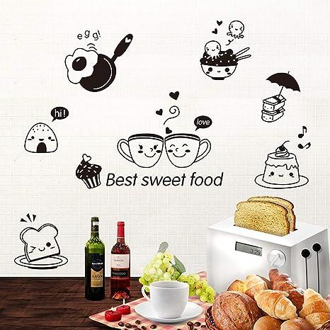 Amazoncom Daweif Waterproof Kitchen Wall Stickers Diy Wall