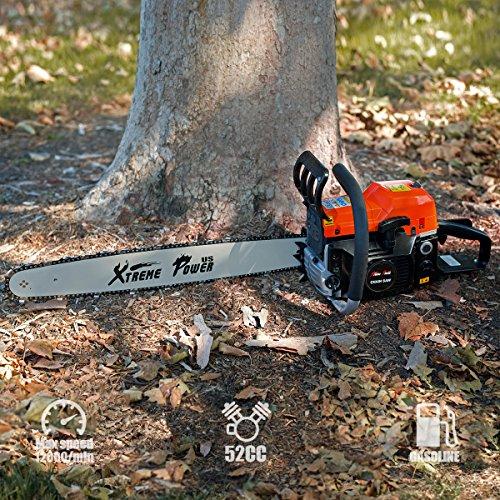 [해외]XtremepowerUS 2.7HP 가솔린 전기 톱 2 행정 엔진 나무 절단 나무 로그 커터 트리머  블레이드 커버 EPA -52cc / XtremepowerUS 2.7HP Gasoline Chainsaw 2-Stroke Engine Wood Cutting Tree Log Cutter Trimmer wBlade Cover EPA -52cc